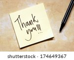 thank you note | Shutterstock . vector #174649367