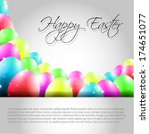 happy vector easter  background ... | Shutterstock .eps vector #174651077