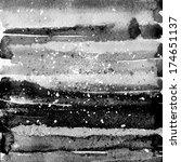 black abstract watercolor... | Shutterstock . vector #174651137