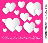 valentines day background with... | Shutterstock . vector #174657143