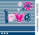 love card vector illustration | Shutterstock .eps vector #174661253