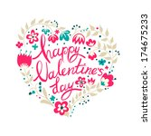calligraphy for valentine's day. | Shutterstock .eps vector #174675233