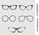 Glasses Set. Isolated Icons....