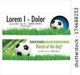 soccer background | Shutterstock .eps vector #174688253