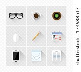 detailed modern flat icons with ...
