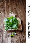 Fresh Basil On A Wooden...