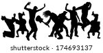vector silhouettes of people... | Shutterstock .eps vector #174693137