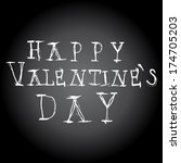 happy valentines day words on... | Shutterstock .eps vector #174705203