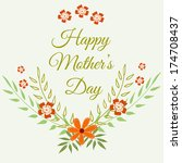 happy mothers day card design.... | Shutterstock .eps vector #174708437
