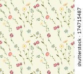 seamless floral background  | Shutterstock .eps vector #174715487