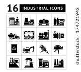 industrial and factory icons...   Shutterstock .eps vector #174721943