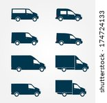 commercial truck icon    Shutterstock .eps vector #174724133