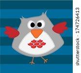 cute owl. vector illustration | Shutterstock .eps vector #174726413