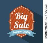 shopping design over  blue...   Shutterstock .eps vector #174729263
