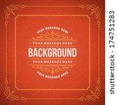 vintage background design... | Shutterstock .eps vector #174751283
