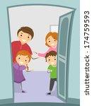 illustration of a family giving ... | Shutterstock .eps vector #174759593