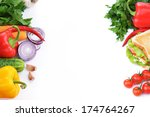 fresh and tasty sandwich  with... | Shutterstock . vector #174764267