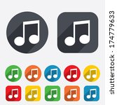 music note sign icon. musical... | Shutterstock .eps vector #174779633