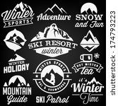 collection of winter sports... | Shutterstock .eps vector #174793223