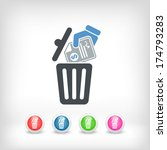 trashing payment | Shutterstock .eps vector #174793283