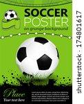 soccer poster with soccer ball... | Shutterstock .eps vector #174801617