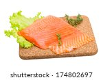 salmon fillet with thyme | Shutterstock . vector #174802697