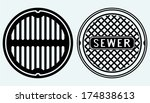 sewer manhole. image isolated... | Shutterstock .eps vector #174838613