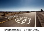 famous route 66 landmark on the ... | Shutterstock . vector #174842957