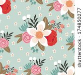 seamless pattern with beautiful ... | Shutterstock .eps vector #174850277
