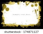grunge frame. grunge background ... | Shutterstock . vector #174871127
