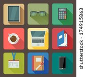 business workplace icons set of ...