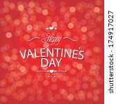 valentines day red bokeh... | Shutterstock .eps vector #174917027