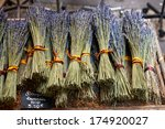 bouquets of dry lavender or... | Shutterstock . vector #174920027