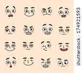 facial mood expression icons... | Shutterstock . vector #174921593