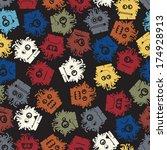 monsters seamless | Shutterstock .eps vector #174928913