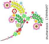 flowers vector  traditional...   Shutterstock .eps vector #174949697