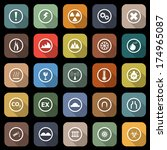 warning flat icons with long... | Shutterstock .eps vector #174965087