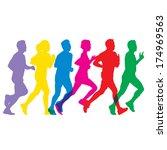 the abstract of running vector | Shutterstock .eps vector #174969563