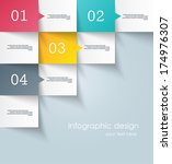 infographic design template | Shutterstock .eps vector #174976307
