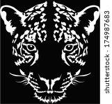 Leopard face logo ,Vector