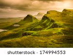 Scenic View Of Quiraing...