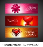 valentines day bright colorful... | Shutterstock .eps vector #174996827
