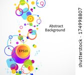 abstract colorful background.... | Shutterstock .eps vector #174998807