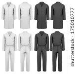 set of overalls with worker.... | Shutterstock .eps vector #175010777