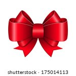 Red Bow Symbol Isolated ...
