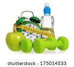 green alarm clock  apple ... | Shutterstock . vector #175014533