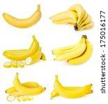 banana isolated on white  | Shutterstock . vector #175016177