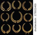 golden laurel wreath  set | Shutterstock .eps vector #175021403