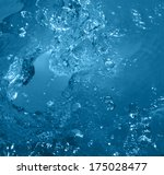bubbles in water close up.... | Shutterstock . vector #175028477