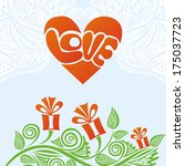 valentines day card romantic... | Shutterstock . vector #175037723